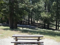 Picnic Table in Table Mountain Picnic Area - Wrightwood CA Mountains