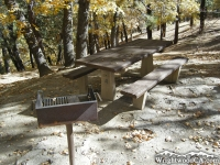 Stove and Table in Mescal Picnic Area - Wrightwood CA Mountains